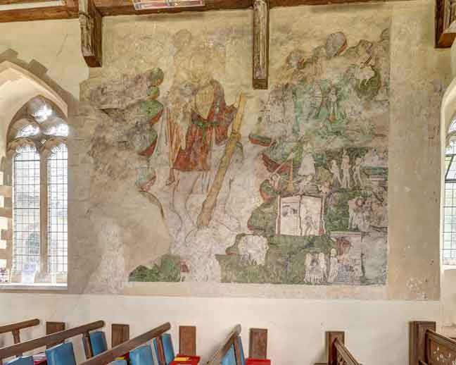 The mural of St Christopher