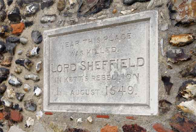 Lord Sheffield tablet
